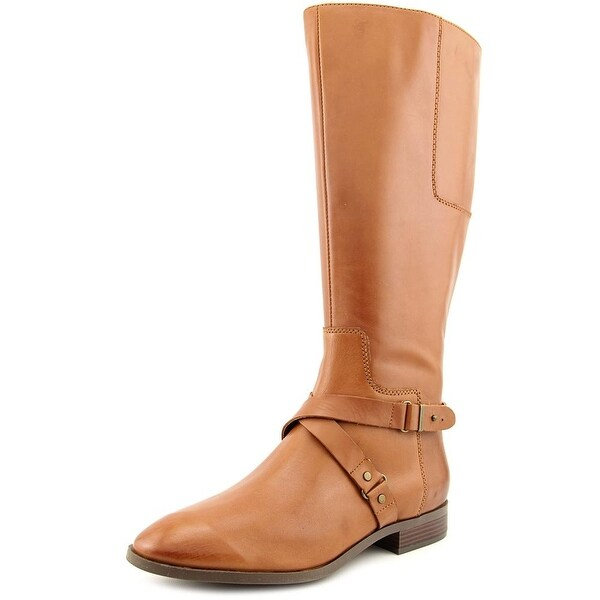 Nine West Blogger Women Round Toe Leather Tan Knee High Boot
