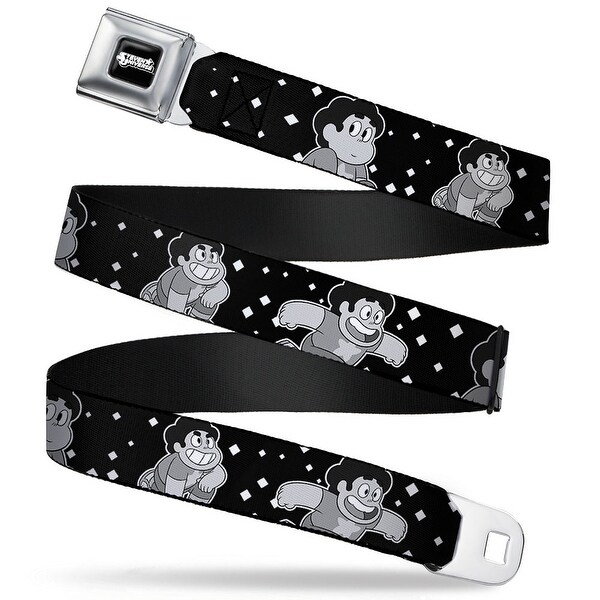 Steven Universe Logo Full Color Black White Steven Universe 3 Poses Seatbelt Belt