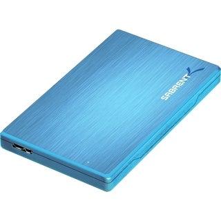 Sabrent EC-ALBL Sabrent EC-ALBL Drive Enclosure External - Blue - 1 x Total Bay - 1 x 2.5 Bay - Serial ATA - USB 3.0 -