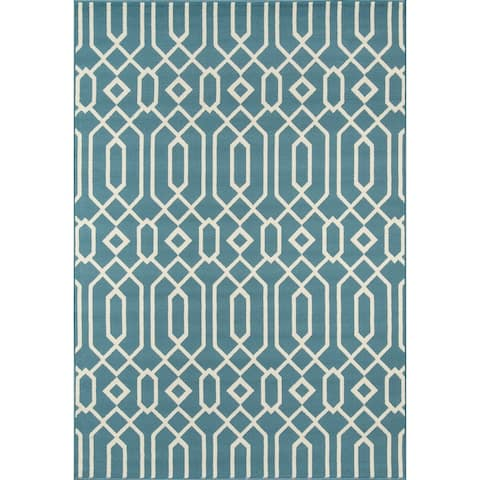Misquamicut Blue Indoor/ Outdoor Area Rug by Havenside Home