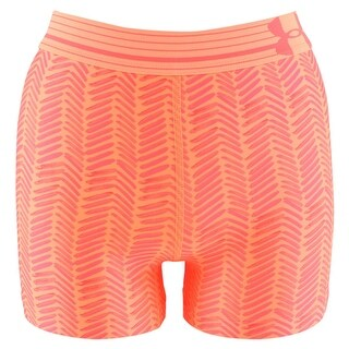 Under Armour Womens HeatGear Alpha Printed Compression Shorty Shorts Orange - xs (us 0-2) 3