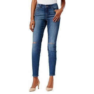 Style & Co. Ripped Skinny Leg Mid Rise Jeans Pants Lorimer