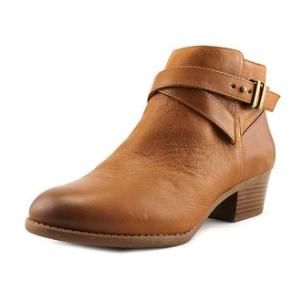 INC International Concepts Herb II Women W Round Toe Synthetic Brown Ankle Boot