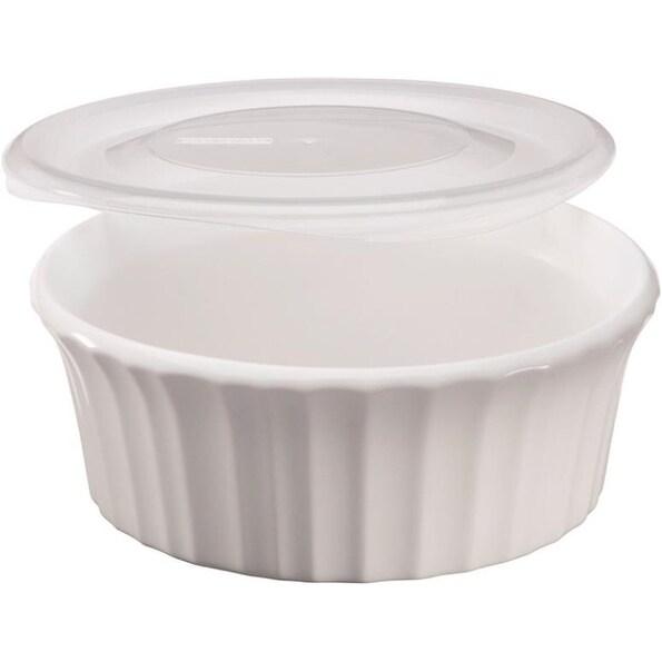 Corningware 1114931 Baking Dish, French White, 16 Oz