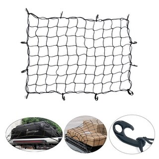 """ARKSEN Universal 36"""" x 60"""" Cargo Net Carrier Bungee Pickup Truck SUV Rooftop Rack Luggage Camping"""