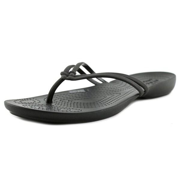 13918554edb19c Shop Crocs Isabella Flip Women Open Toe Synthetic Black Flip Flop ...