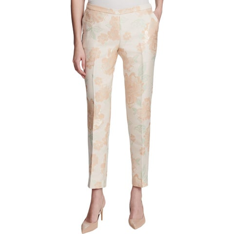 Calvin Klein Womens Dress Pants Jacquard Metallic