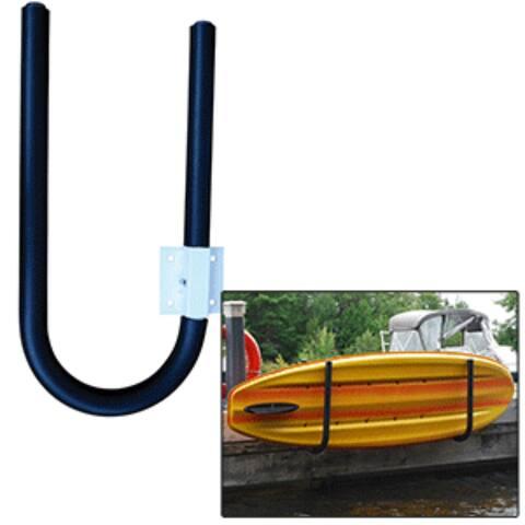 """30"""" Metallic Blue and White Marine Heavy-Duty Dock Edge Kayak Holder"""