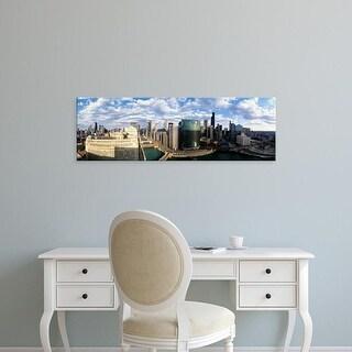 Easy Art Prints Panoramic Images's 'Cityscape Chicago IL USA' Premium Canvas Art
