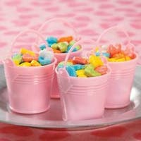 Pink Baby Buckets - Party Favors 12/Pkg