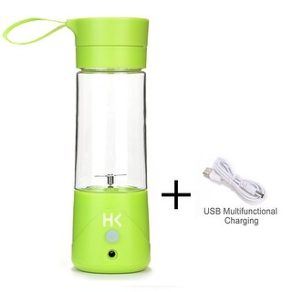 380ml Mini USB Juicer Cup Portable Rechargeable Fruit Blender Crusher w/ USB Charge Cable Multifunctional