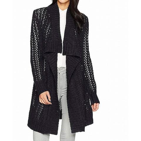 NYDJ Womens Sweater Prussian Navy Blue Size XL Cardigan Open Front