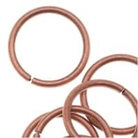 Genuine Antiqued Copper Open Jump Rings 10mm 18 Gauge (50)