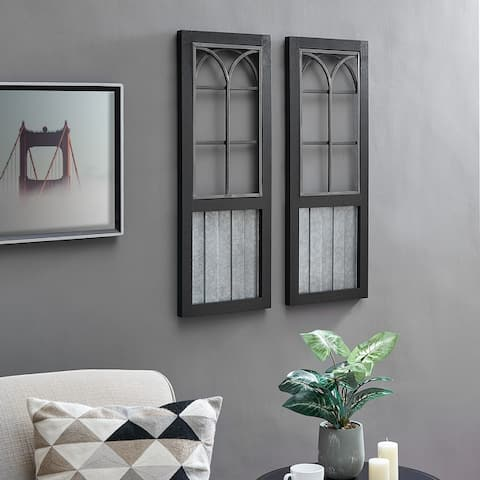 FirsTime & Co.® Willow Farmhouse Window Wall Plaque Set, Metal, 12 x 1 x 31.5 in, American Designed - 12 x 1 x 31.5 in