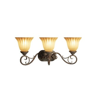 "Woodbridge Lighting 53082-RSI Avondale 3-Light 23-3/4"" Wide Vanity Light - Rustic Iron"