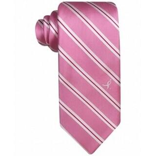 Susan G. Komen NEW Pink White Mens One Size Stripe-Print Neck Tie