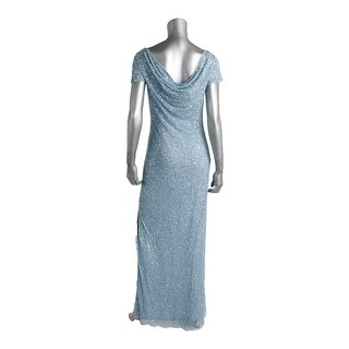Aidan Mattox Womens Cowl Back Beaded Mother of the Bride Dress