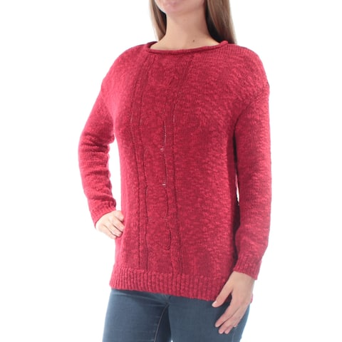 AMERICAN LIVING Womens Red Long Sleeve Jewel Neck Sweater Size: S