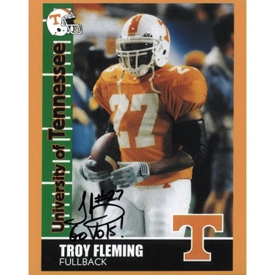 Shop Troy Fleming Signed Tennessee Volunteers 8x10 Photo Go Vols 27