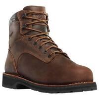 "Danner Men's Workman 6"" Alloy Toe Work Boot Brown Oiled Leather/Full Grain Leather"