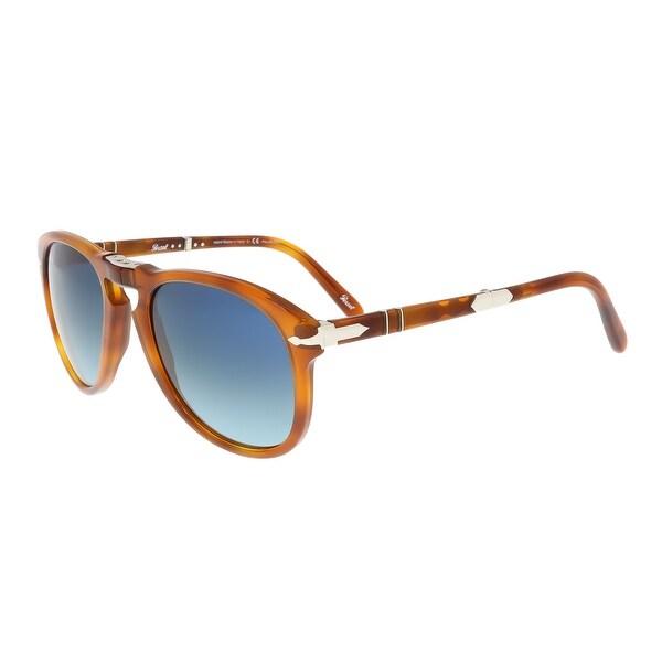 64450d29c8e Persol PO0714SM 96 S3 52 Light Havana Aviator Folding Steve McQueen  Sunglasses - 52