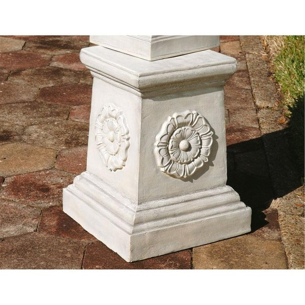 Design Toscano English Rosette Garden Sculptural Plinth: Grande