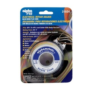Alpha Fry 31604 Electrical Repair Solder, 4 Oz