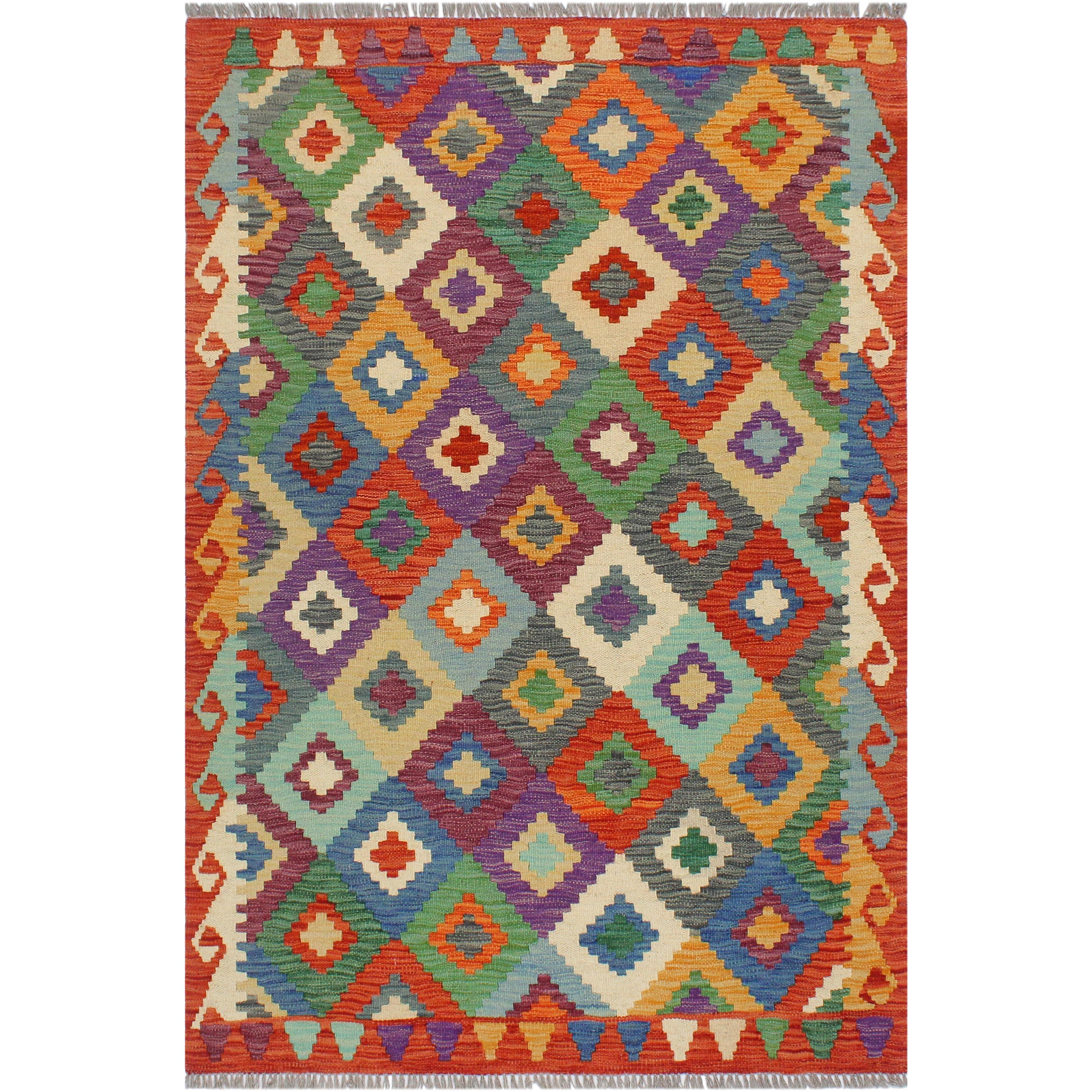 Bohemian Turkish Kilim Annamari Hand Woven Area Rug 3 4 X 4 9 Overstock 32540818