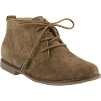 Spring Step Women's Morgana Chukka Olive Green Suede