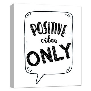 """PTM Images 9-124820  PTM Canvas Collection 10"""" x 8"""" - """"Positive Vibes"""" Giclee Sayings & Quotes Art Print on Canvas"""