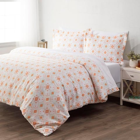 Merit Linens Ultra Soft Aztec Dreams Pattern 3 Piece Duvet Cover Set