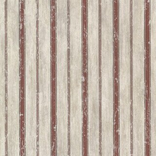 Brewster CTR64123 Parker Brick Wood Stripe Wallpaper