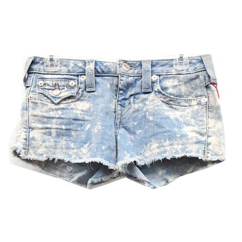 True Religion Cut Off Shorts, Blue, 27