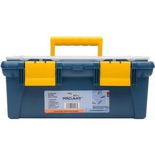 """16.1""""X8.7""""X6.7"""" Blue & Yellow - Pro Art Storage Box W/Organizer Top"""