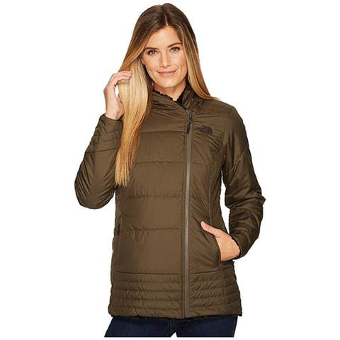 The North Face Mossbud Swirl Parka New Taupe Green/TNF Black, Large
