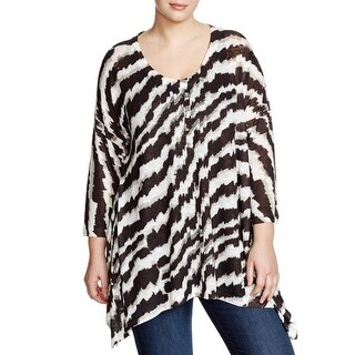 Nally & Millie Womens Blouse Heathered Pattern