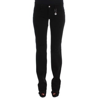 Costume National Costume National Black Cotton Slim Fit Bootcut Jeans