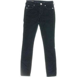 True Religion Womens Halle Corduroy Mid-Rise Cropped Jeans - 24