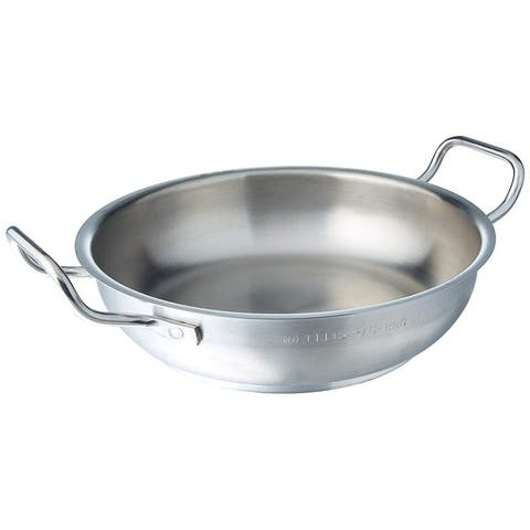 Paderno Stainless Steel 17 3/4 Inch Paella Pan
