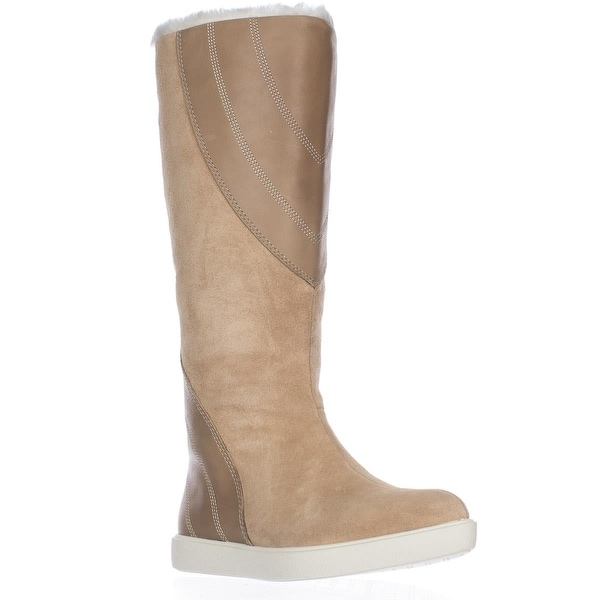 Naya Yuma Faux Fur Lining Tall Winter Boots, Straw - 6 us / 36 eu