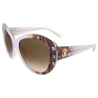 Roberto Cavalli RC727S/S 27F Pearl Grey/Brown Snakeskin Butterfly sunglasses