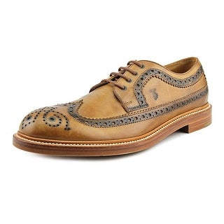 Tod's DERBY BUCATURE Men Round Toe Leather Brown Oxford