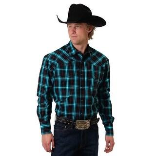 Roper Western Shirt Mens Checks L/S Snap Black 03-001-0278-6048 BL