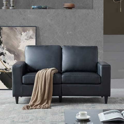 Sofa and Loveseat Sets Morden Style PU Leather (Loveseat)
