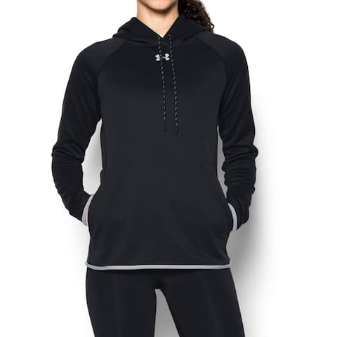 Women's Under Armour 1295300 UA Double Threat Armour Fleece, Black, L