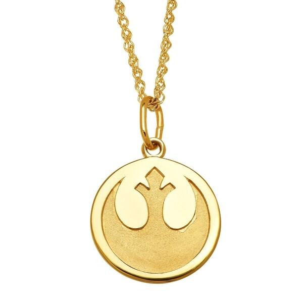 Star Wars Rebel Alliance Medallion Pendant in 10K Gold - Yellow
