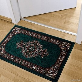 "Allstar Green Doormat Accent Rug Woven High Quality High Density Double Shot Drop-Stitch Carving (2' 0"" x 3' 3"")"