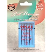 Super Stretch Needles 5/Pkg-Size 90/14