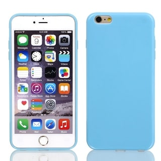 Film + Soft Silicone Case Cover Blue for Apple iPhone 6 Plus 5.5