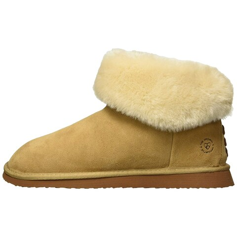 Dearfoams Womens DFCMX50711 Suede Closed Toe Pull On Slippers